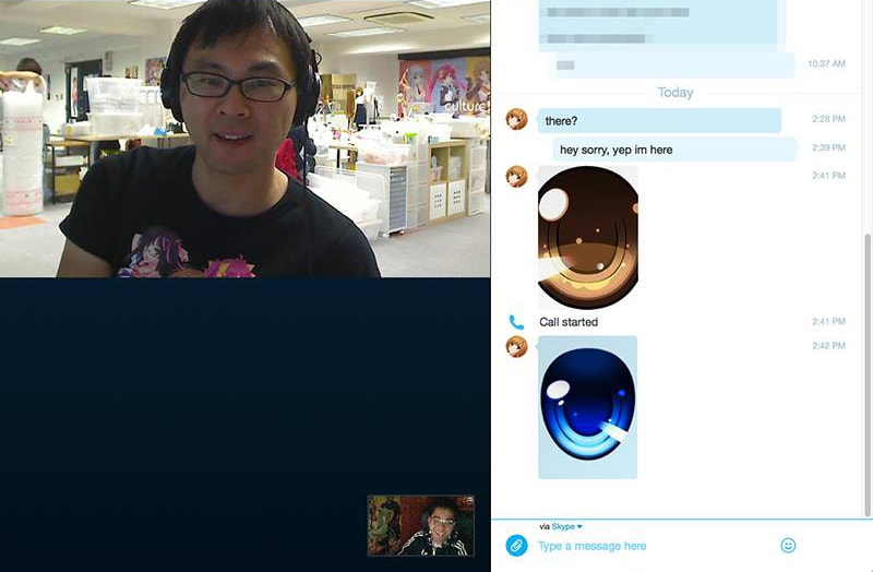 Random video chat with Danny Choo.