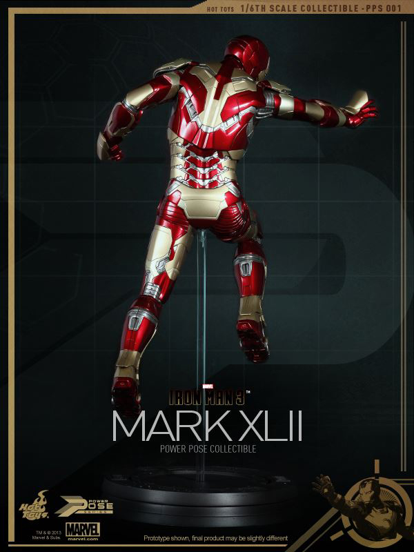 Preview | Hot Toys: Iron Man Mk XLII (Power Pose Series) (2)