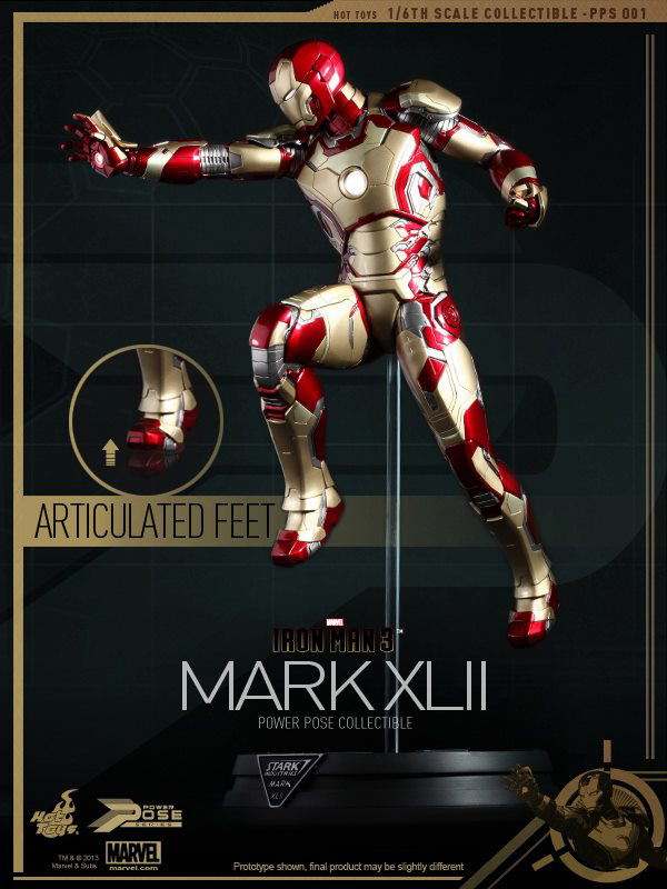 Preview | Hot Toys: Iron Man Mk XLII (Power Pose Series) (8)