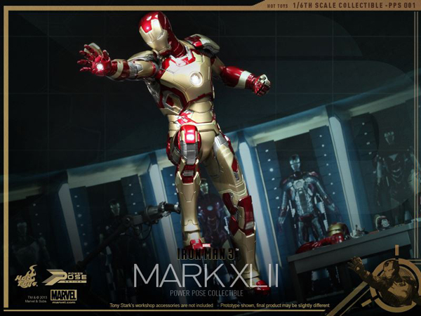 Preview | Hot Toys: Iron Man Mk XLII (Power Pose Series) (11)