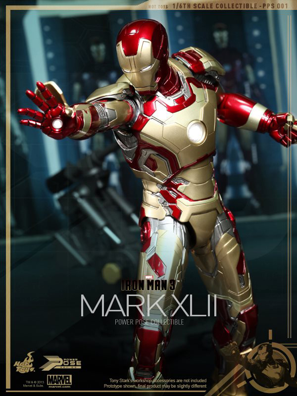 Preview | Hot Toys: Iron Man Mk XLII (Power Pose Series) (3)