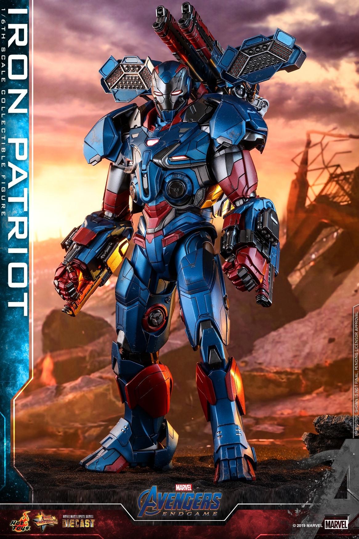 Hot Toys 1/6 Iron Patriot (Avengers: Endgame)